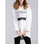 cheap Applique Fringed Longline Maternity Hoodie
