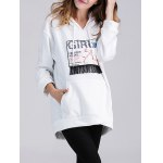 Applique Fringed Longline Maternity Hoodie deal