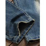 Zipper Fly Pocket Rivet Scratched Ripped Jeans deal