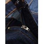 Paint Print Scratched Zipper Fly Straight Leg Jeans for sale
