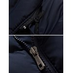 Slim Fit Zipper Up Quilted Hooded Jacket for sale