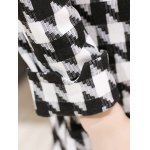 Houndstooth Fit and Flare Wool Coat for sale