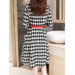 Houndstooth Fit and Flare Wool Coat deal