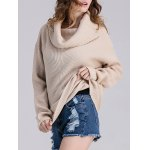 Cowl Neck Ribbed Knit Sweater deal