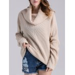 cheap Cowl Neck Ribbed Knit Sweater