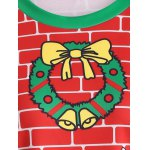 3D Christmas Print Color Block Sweatshirt photo