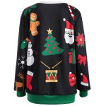 cheap Pullover Christmas Graphic Print Sweatshirt