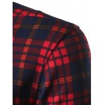 Turndown Collar Thicken Color Block Checked Pattern Shirt deal