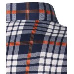 Turndown Collar Thicken Color Block Checked Print Shirt for sale