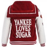 cheap Plus Size Appliques Fleece Baseball Jacket