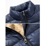 cheap Funnel Neck Zip Up Quilted Jacket