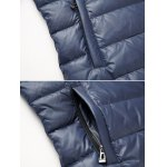 Funnel Neck Zip Up Quilted Jacket deal