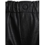 Plus Size Button Decorated Faux Leather Shorts deal
