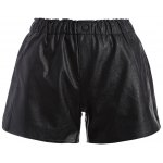 Plus Size Button Decorated Faux Leather Shorts