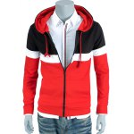 cheap Color Block Splicing Hoodie