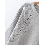 High Low Long Sleeve Hollow Out Sweater deal