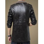 cheap Faux Leather Flocking Single Bresated Jacket