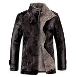 Faux Leather Flocking Single Bresated Jacket deal