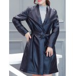 PU Belted Wrap Coat for sale