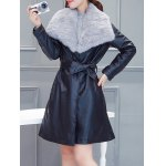 PU Belted Wrap Coat