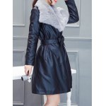 PU Belted Wrap Coat deal