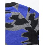 Crew Neck Camouflage Graphic Long Sleeve Sweater deal