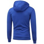 Side Zip Up Drawstring Pullover Hoodie for sale
