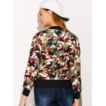 Streetwear Camouflage Print Bomber Jacket deal