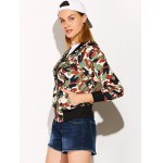 cheap Streetwear Camouflage Print Bomber Jacket