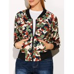 Streetwear Camouflage Print Bomber Jacket