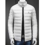 Plus Size Skull Print Stand Collar Cotton Padded Jacket