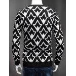 Plus Size Geometric Graphic Long Sleeve Sweater deal