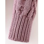 High Neck Cable Knit Sweater for sale