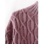 High Neck Cable Knit Sweater deal