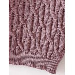 best High Neck Cable Knit Sweater