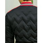 Color Block Spliced Stand Collar Waviness Cotton Padded Jacket for sale
