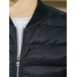 Stand Collar Graphic Printed Cotton Padded Jacket for sale