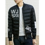 cheap Stand Collar Graphic Printed Cotton Padded Jacket