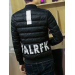 Stand Collar Graphic Printed Cotton Padded Jacket deal