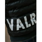 Stand Collar Graphic Printed Cotton Padded Jacket photo