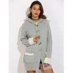 Horn Button Cable Knit Cardigan deal
