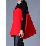 cheap Batwing Sleeve Side Slit Cape Sweater