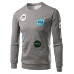 Patch Design Crew Neck Sweatshirt
