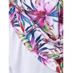 Floral Print Plus Size Pullover Hoodie for sale