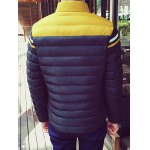 Funnel Neck Color Block Zipper Padded Jacket deal