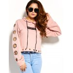 cheap Cute Embroidery Iron Ring Hoodie