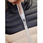 Striped Color Block Zip Up Padded Jacket deal