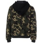 cheap Camouflage Hooded Fuzzy Jacket