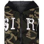 Camouflage Hooded Fuzzy Jacket deal