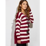 Christmas Button Back Striped Sweater deal